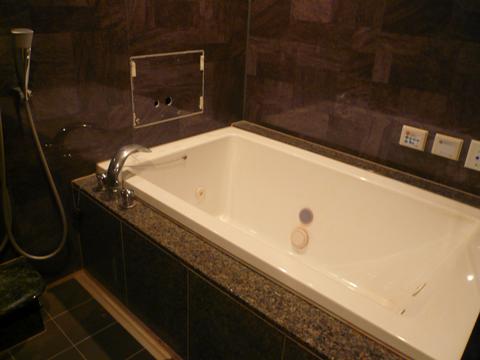 広々とした綺麗なバスルームが付いています。
